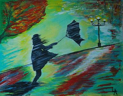 Painting - Windy Escapade by Leslie Allen
