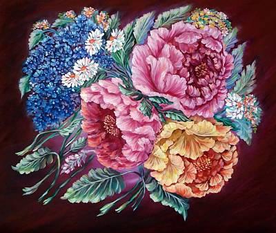 Windy Flowers Art Print