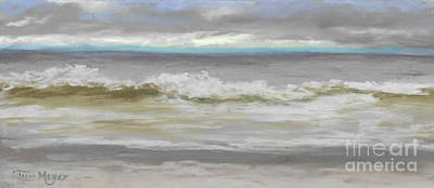 Windy Hill Beach - Myrtle Beach, Sc Art Print by Terri  Meyer