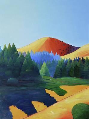 Windy Hill Triptych I Art Print