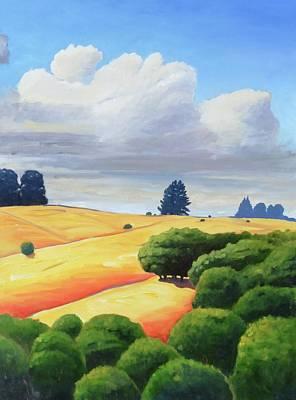 Windy Hill Triptych IIi Art Print