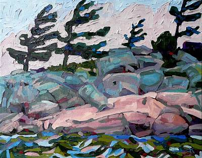 Thousand Islands Painting - Windy Island by Phil Chadwick