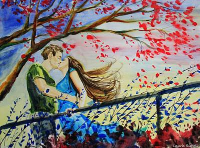 Painting - Windy Kiss by Laura Rispoli