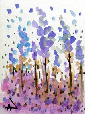 Painting - windy Lavenders  by Patricia Lazaro