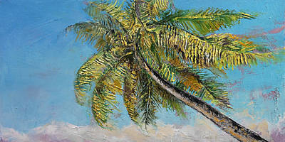 Windy Painting - Windy Palm by Michael Creese