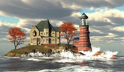 Windy Point Lighthouse Original by John Junek