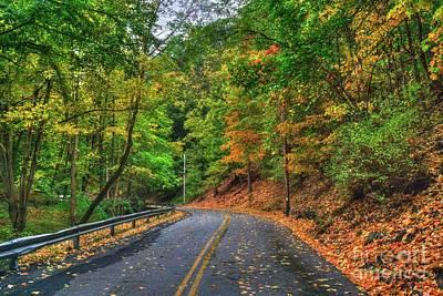 Photograph - Windy Road In Autumn by Scott Harrison