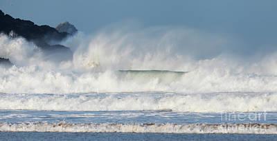Photograph - Windy Seas In Cornwall by Nicholas Burningham