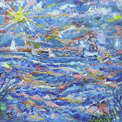Painting - Windy Seas by Jean Batzell Fitzgerald