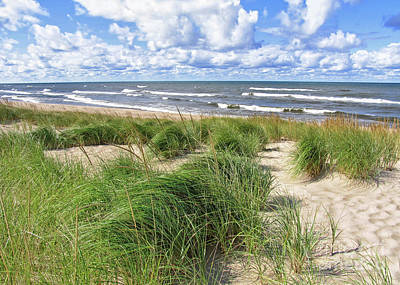 Windy Shoreline Art Print by Kathi Mirto