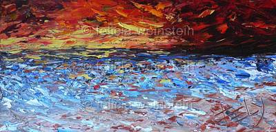 Painting - Windy Sunset by Felicia Weinstein