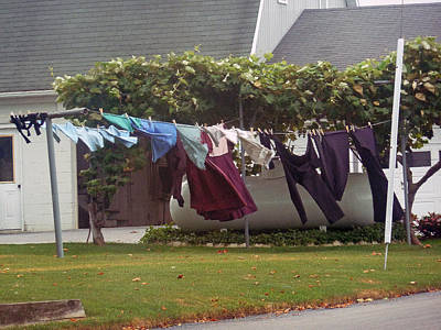 Photograph - Windy Washday by Helen Haw