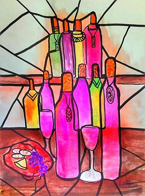 Painting - Wine Abstract by Anne Sands