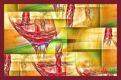 Wine Abstract IIi Art Print by Pamela Blizzard