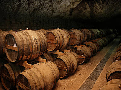 Tasting Photograph - Wine Aging Cavern by Daniel Hagerman