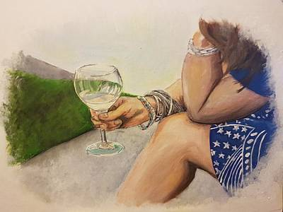 Painting - Wine And Bracelets by Carole Hutchison