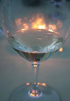 Wine And Candlelight Art Print by Gail Salitui