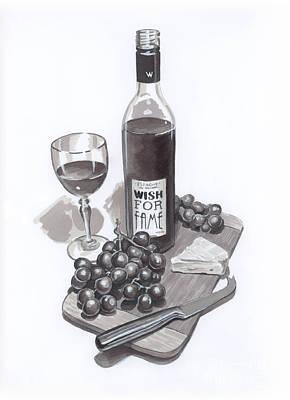 Thomas Kinkade - Wine and Cheese by Brandy Woods