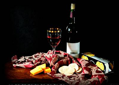 Photograph - Wine And Cheese by Diana Angstadt