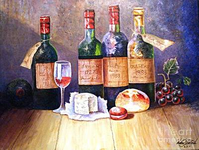 Painting - Wine And Cheese by Robert Monk