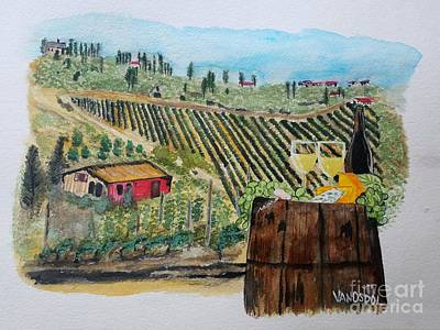 Painting - Wine And Cheese by Scott D Van Osdol