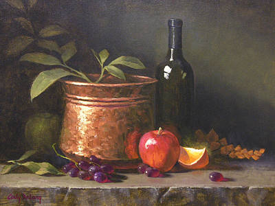 Copper Painting - Wine And Copper by Cody DeLong