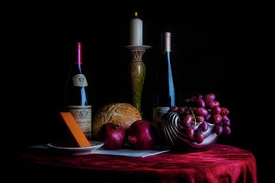 Pomegranate Wall Art - Photograph - Wine And Dine II by Tom Mc Nemar