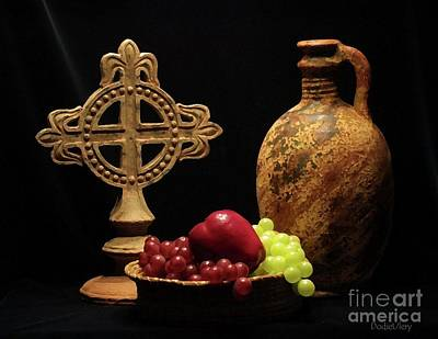 Art Print featuring the photograph Wine And Fruit by Dodie Ulery
