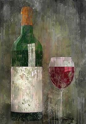 Digital Art - Wine And Glass by Yury Malkov