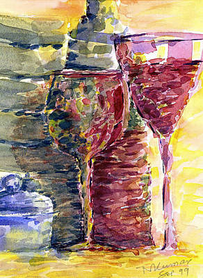 Painting -  Wine And Glasses by Naini Kumar