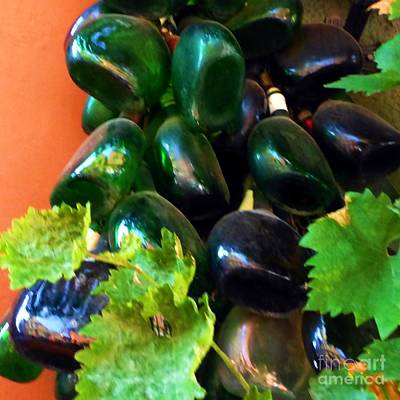 Photograph - Wine And Grapes Full Circle by Barbie Corbett-Newmin