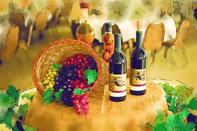 Wine And Grapes Original by Paul Bartoszek