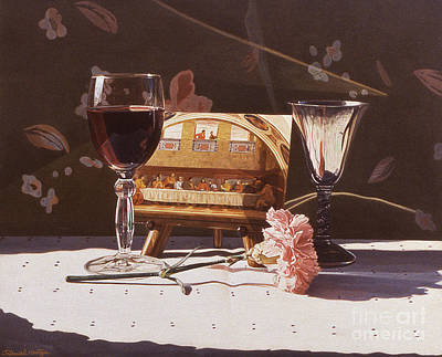 Painting - Wine And Last Supper by Daniel Montoya