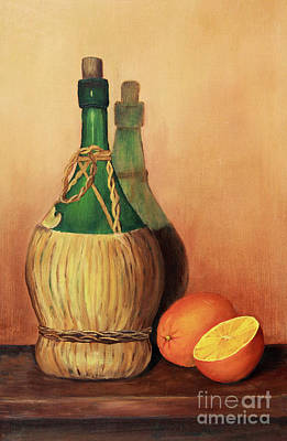Painting - Wine And Oranges by Pattie Calfy