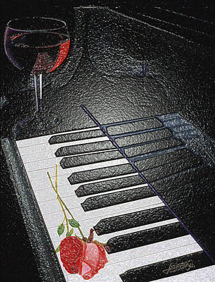 Painting - Wine And Roses In Leather by JoeRay Kelley