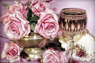 Photograph - Wine And Roses by Wallaroo Images