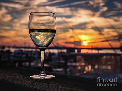Photograph - Wine At Sunset In The Hamptons by Alissa Beth Photography