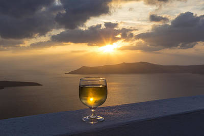 Photograph - Wine At Sunset by Kathy Adams Clark