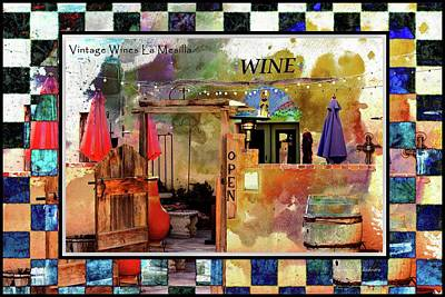 Las Cruces New Mexico Digital Art - Wine Bar Southwest Style by Barbara Chichester