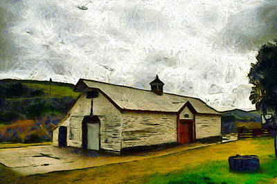 Photograph - Wine Barn Foxen Winery by Floyd Snyder