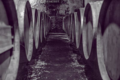 Vintage Wine Lovers Photograph - Wine Barrel Alley by Georgia Fowler
