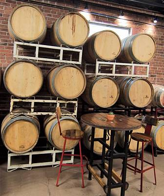 Photograph - Wine Barrels 2 by Charles HALL