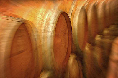 Photograph - Wine Barrels Abstract by Stuart Litoff