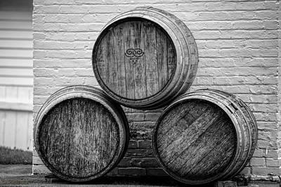 Barrel Photograph - Wine Barrels At Mission Point Lighthouse Michigan by LeeAnn McLaneGoetz McLaneGoetzStudioLLCcom