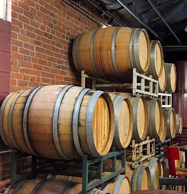 Photograph - Wine Barrels by Charles HALL
