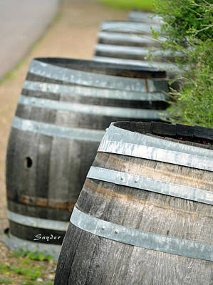 Photograph - Wine Barrels Foxen Winery by Barbara Snyder