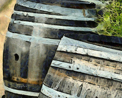 Photograph - Wine Barrels Foxen Winery Detail by Barbara Snyder