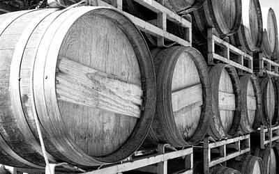Photograph - Wine Barrels In A Row by Glenn McCarthy Art and Photography