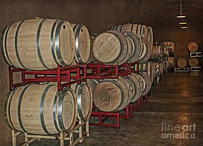Photograph - Wine Barrels Lining The Cave by Gabriele Pomykaj
