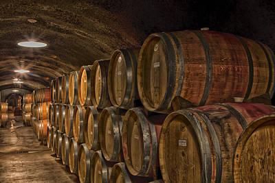 Cellar Photograph - Wine Barrels by Mountain Dreams